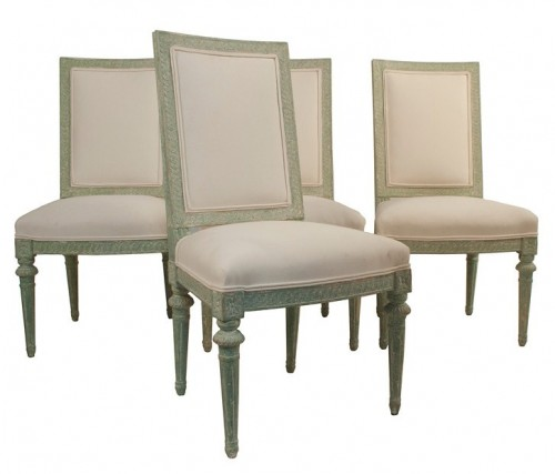 Four Gustavian Side Chairs