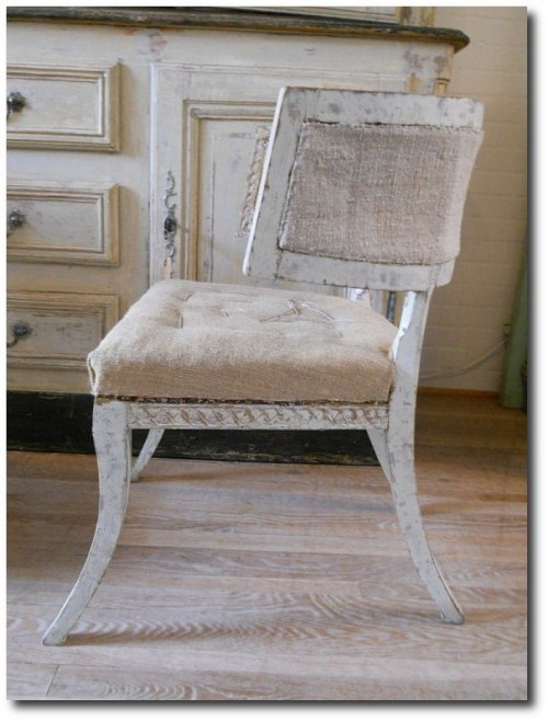 Pair Swedish Gustavian Klismos Chairs