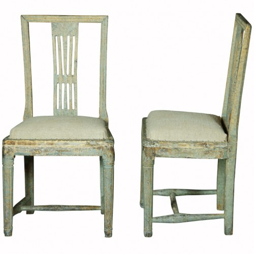 Pair of Gustavian Chairs in Original Paint