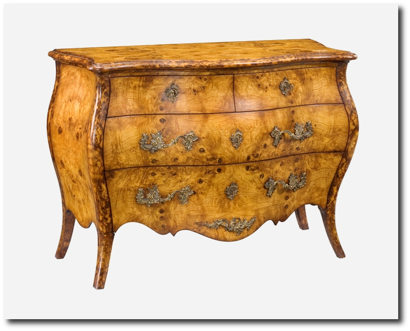 Burl Wood Furniture Commode From Charles