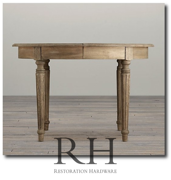 restoration hardware fluted dining table