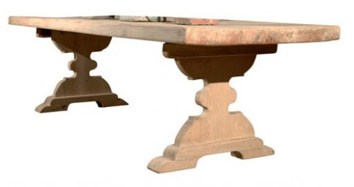 A Tyner Antiques Reclaimed Wood Dining 500x264 The Romantic Baroque Style: Part 5 Add Color