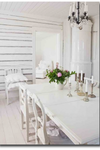 All White Swedish Decorating