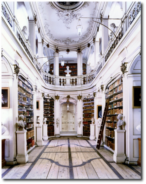 Duchess Anna Amalia Library in Weimar was built in 1562 as Anna's house 500x632 The Most Beautiful Rococo Library In The World:The Anna Amalia Library