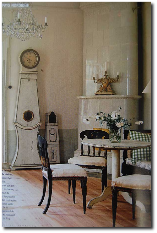 How important are accent pieces in a swedish home for Swedish design magazine