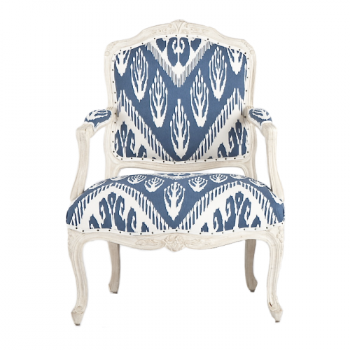 Ikat chair 500x500 The Romantic Baroque Style: Part 5 Add Color