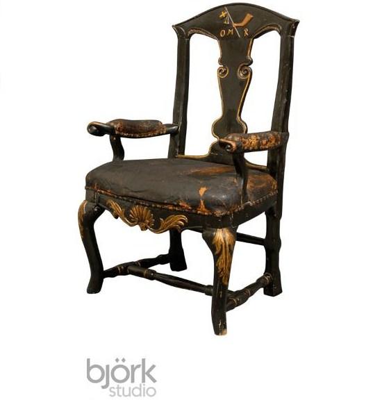 Captains Arm Chairs ~ Swedish baroque captain s arm chair c