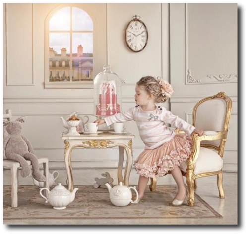 How to decorate a child s room in the swedish style for Tea room design quarter
