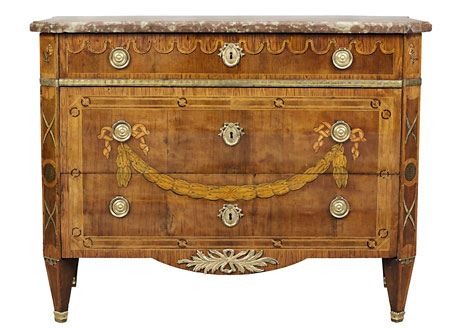 Bureau of Jonas Hultsten champion in Stockholm 1773 1794. Veneered with rosewood mahogany maple and stained hardwood and slice of red limestone. Inlaid lagergirland. 7 Of The Most Famous Swedish Furniture Designers And Decorators