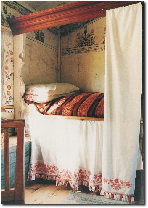 Scandinavian Folk Obsession Scandinavian Box Beds: Go Bold With Red- Nordic Country Interiors