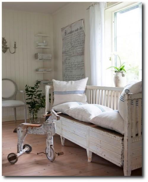 Swedish cupboard bed for Scandinavian childrens bedroom