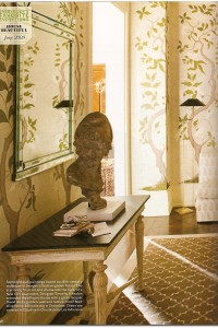 Designer Timothy Whealon – Stenciled walls in 18th century wallpaper