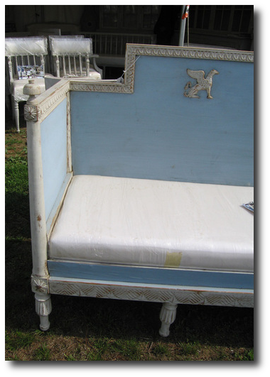 Blue Swedish Bench