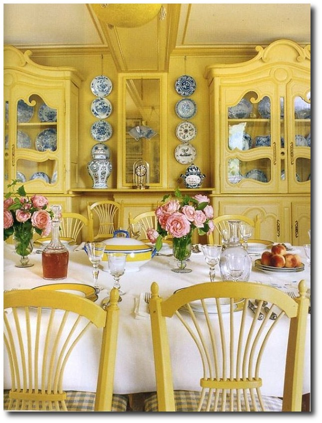 1000 images about monet 39 s gardens giverny on pinterest for Yellow dining room ideas