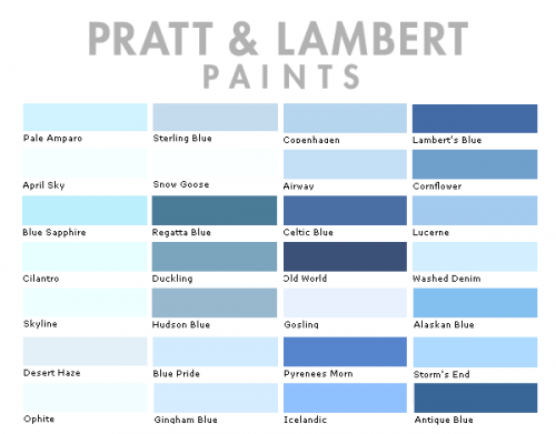 Pratt & Lambert Color Collection