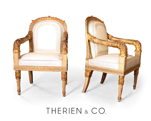Roman Neoclassical Chairs