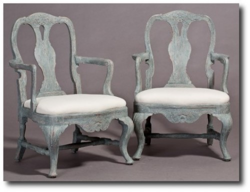 A-pair-of-Rococo-Style-Armchairs-in-Blue-paint-with-elegant-carvings-and-details_-Circa-1860-Sweden-500x378