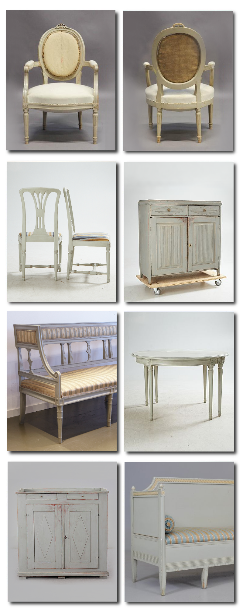 Gustavian Furniture In Gray