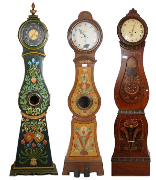 Swedish Mora Folk Art Clocks