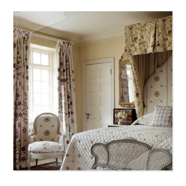 Embroidered Fabric, Needlepoint Pillows And Gustavian Furniture From  Chelsea Textiles