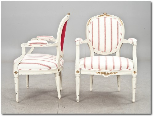 Gustavian Armchairs Swedish Furniture From Bukowski Market- Gustavian, Gustavian Furniture, Rococo Swedish, Swedish Antiques, Swedish Auction Markets, Swedish Online Furniture Auctions