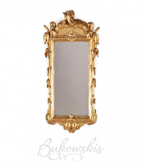 Rococo Mirror 1700's-Swedish Furniture From Bukowski Market-Gustavian, Gustavian Furniture, Rococo Swedish, Swedish Antiques, Swedish Auction Markets, Swedish Online Furniture Auctions