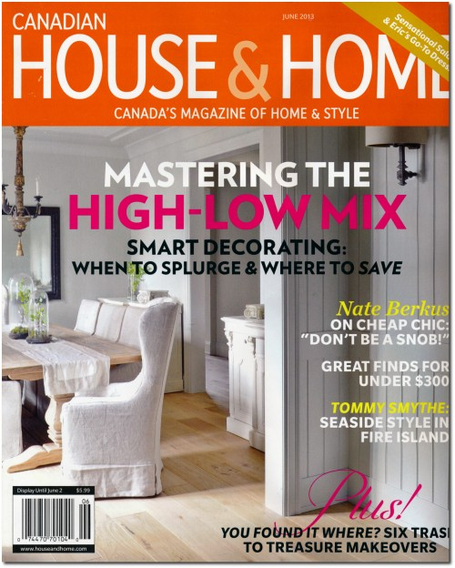 Canadian House and Home Magazine June 2013 Issue
