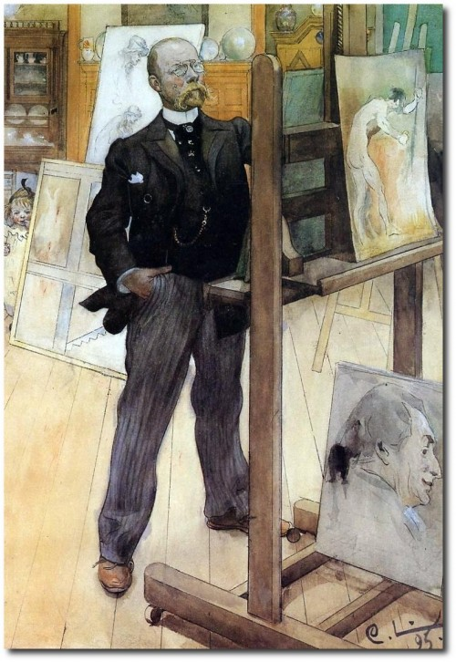 Carl Larsson A Self Portrait