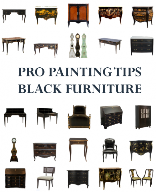 Pro Painting Tips- Best Painted Furniture, Black Painted Antiques, Black Painted Furniture, How To Paint, Scandinavian Furniture, Swedish Antiques