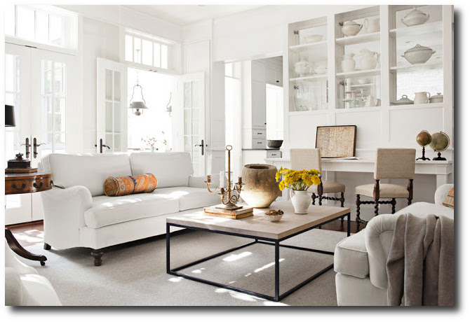 Paint it white he says - White living room ideas ...