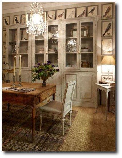 garbo interiors - beautiful bird prints around cupboard