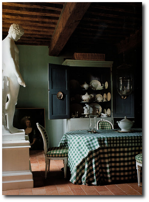 the dining room at an 18th century manor house in burgundy. imageThe World of Interiors, Jun 2005 Best Painted Furniture, Black Painted Antiques, Black Painted Furniture, How To Paint, French Provence, French Provincal , Scandinavian Furniture, Swedish Antiques