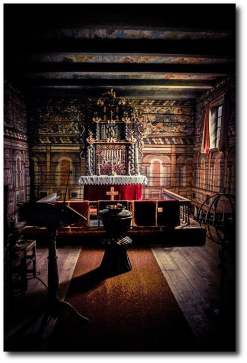 Stave church, Rollag, Buskerud, Norway