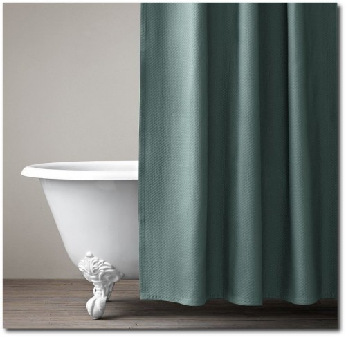 Restoration Hardware Diamond Matelasse Shower Curtain