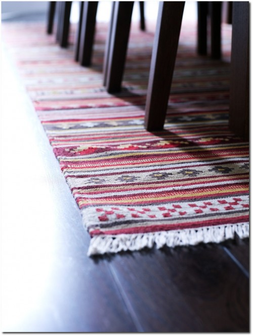 KATTRUP Rug, flatwoven, red, multicolor From Ikea