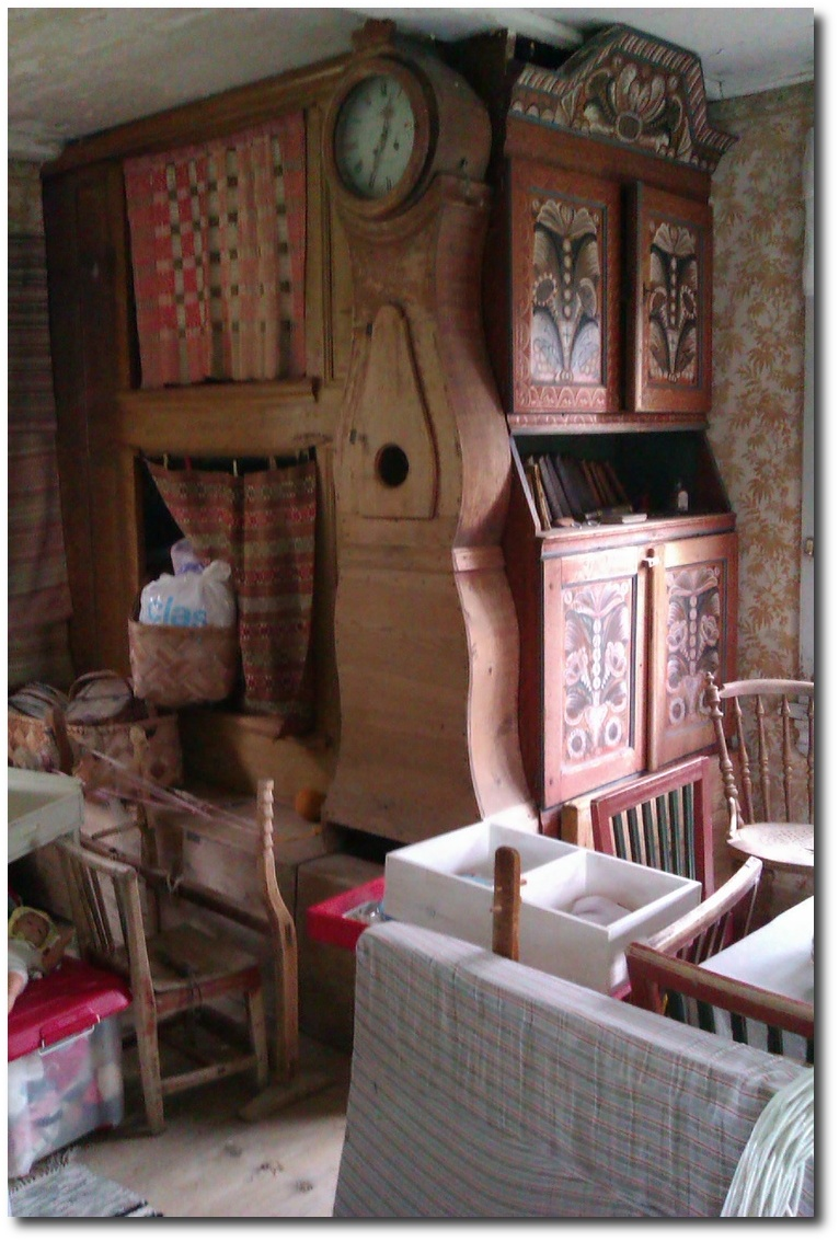 Traditional Beds In The Kitchen Of An Old Swedish Farm House.