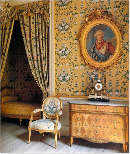 Gripsholm Castle- Princess Sophia Albertina's Bedroom