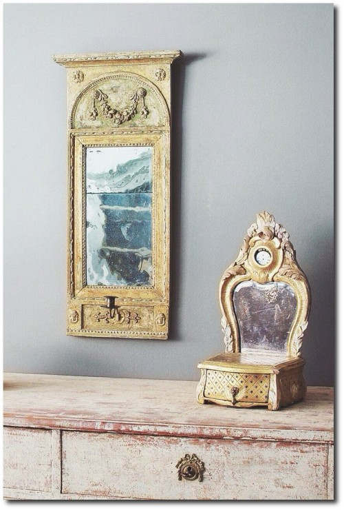 19th Century Swedish Empire Mirror. www.dlarssoninterior Via D.LARSSON