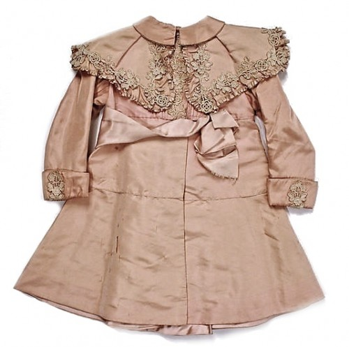 Embroidered Antique Silk Baby Coat ... c. 1895-1900