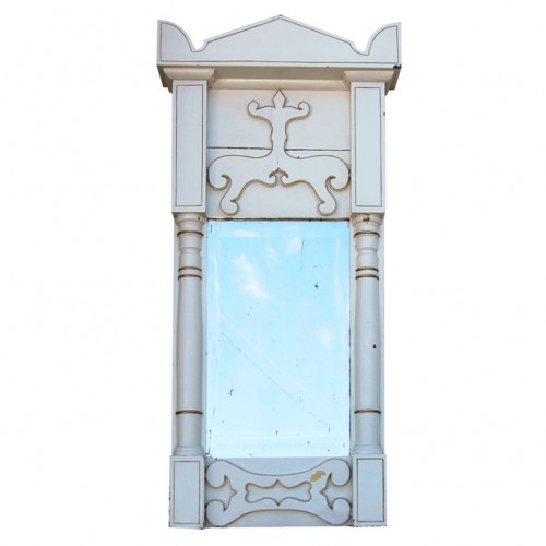 Late Gustavian Early Biedermeier Painted Wall Mirror BJORK STUDIO