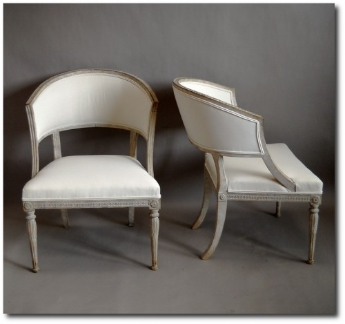Pair of Armchairs in the Swedish Empire Style
