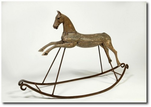 Rocking Horse, Wood and metal, France 1870