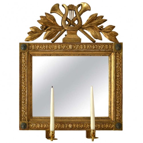 Swedish Empire Giltwood Mirror, Gothenburg circa 1820 Lundgrens Antiques