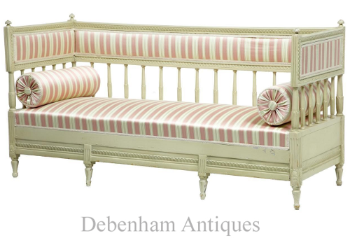 19th Century Painted Swedish Day Bed Sofa