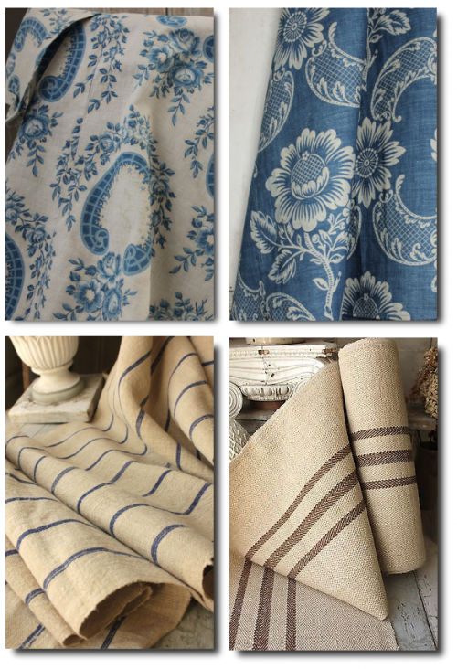 Antique French Fabrics From Loody Lady On Ebay