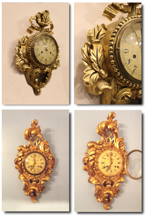 Gustavian Gilt Cartel Clocks On Ebay