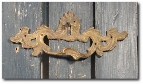 Ornate Antique French Bronze Escutcheon Keyhole Drawer Pull Circa 1920s Shabby Chic French Drawer Pull The French Rooster On etsy