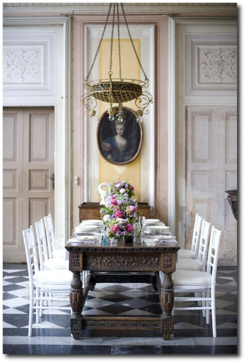 Swedish Styled Interiors - A gorgeous tablescape. Photography by Sandra Fazzino