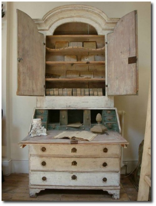 18th century Swedish Secretaire Seen At Apple Hoare