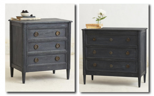 Indigo Washed Nightstand And Chest - Anthropologie